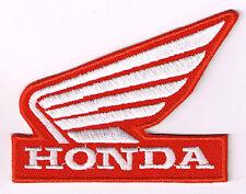 HONDA WING IRON ON PATCH  trx450 vulcan shadow rebel atv 400 ex cbr 600 cbr 1000