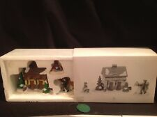 "Dept 56 Heritage Village ""tending the calves"" 3 piece store display retired"