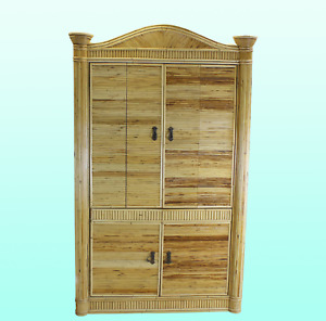 One of a Kind Bamboo Armoire - Bamboo Armoire - Bamboo Wardrobe
