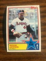 1983 Topps #390  Reggie Jackson California Angels AS  NrMt