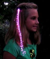 GLOWBYS FIBER OPTIC HAIR EXTENSION LIGHT RAVE PROM FUN NEON GLOWBY NEW SPARKLE!