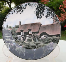 """vintage Royal Doulton plate Anne Hathaway's cottage 10 1/2"""" doulton stamp"""