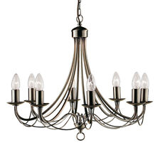 Searchlight 8 Lights Traditional Brass Ceiling Fitting Chandelier Pendant Light