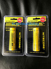 2 PACK NEW NITECORE 18650 NL1835 3500 mah Rechargeable Battery Li-ion Protected
