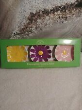 Expressions from Hallmark Ceramic Decorative Flower Dishes Set of 3