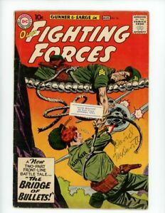 Our Fighting Forces Comic Book #56 Gunner and Sarge, DC Comics 1960 VG+