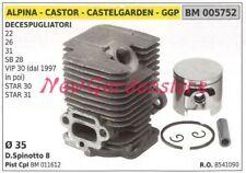 Cilindro pistone segmenti ALPINA motore decespugliatore 22 26 31 SB 28 005752