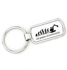 18th Birthday - DIGGER DRIVER - Mans Evolution Key Ring®  age keyring present