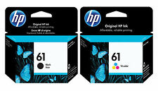 HP Genuine 61 Black + Color Set of 2 Ink Cartridges in date exp.2018