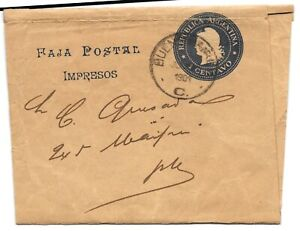 ARGENTINA 1901 1 CENTAVO NEWSPAPER WRAPPER BUENOS AIRES