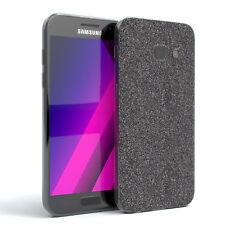 Schutz Hülle für Samsung Galaxy A3 (2017) Glitzer Cover Handy Case Anthrazit