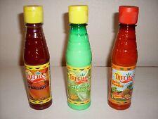 Trechas Chamoy, SaLimon, Spicy Powder. 3 BOTTLES (one of each)FREE PRIORITY SHIP