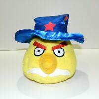 Angry Birds Plush Wizard Hat Chuck Yellow Bird Toy Stuffed Animal Friend Seasons