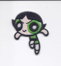 "2 1/2"" Buttercup Powerpuff Girls  Iron on Embriodered Patch patches green girl"