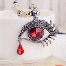 Occhio dell Angelo stupenda Collana in perle,cristallo Vero rosso,protezione