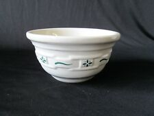 """1x Longaberger Green Woven Traditions Pottery Mixing Bowl 6 3/8"""" wide"""