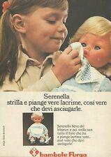 X9717 Bambole FURGA - Serenella strilla e piange  - Pubblicità 1975 - Advertis.