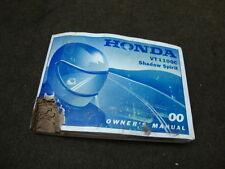 00 HONDA VT1100 VT1100C SHADOW OWNERS MANUEL #Z102