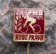 1973 PBW BPW WBP International Bicycle Peace Road Bike Race Cycle Pin Badge