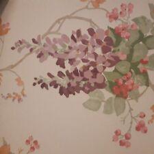 Laura Ashley Wisteria Grape Wallpaper X 4 Rolls