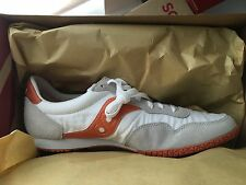 SAUCONY BULLET WHITE ORANGE 10.5 MENS RETRO RUNNING SHOES SNEAKER 2943-51