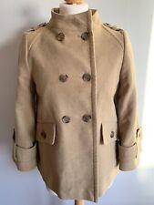 WHITE STUFF Ladies Cape Jacket Camilla Pea Coat Camel Swing Short Trench,Size 10