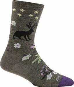 6016 TAUPE DARN TOUGH Folktale Crew Light Womens Hike Socks S M L MERINO Wool