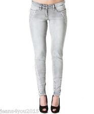 "NEW ladies MISS SIXTY VALLY Grey stretch SKINNY JEANS womans size 24 uk 6 30""leg"
