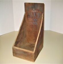Antique Primitive WIGGLE STICK LAUNDRY BLUE Country Store Wood Display Box