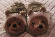 HEDGEHOG MITTENS knit LINED puppet ADULT plush animal hedghog MITTS furry gift