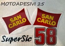 Kit di adesivi in ricordo Marco Simoncelli Super Sic 58 MotoGp diobò san carlo