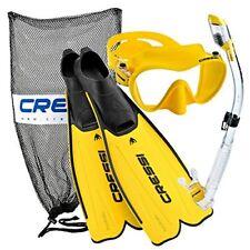 Phantom Aquatics Cressi Rondinella Full FT Mask Fin Snorkel Set W/ Bag