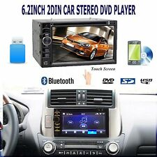 """6.2"""" 2 Din Stereo Car DVD Radio AUX IN Bluetooth USB IN For Toyota Corolla Camry"""