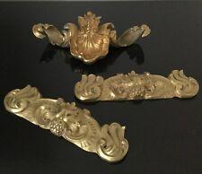 3 ELEMENTS Anciens en Bronze Doré XIXè Victorian French 19th C Gilded Bronze
