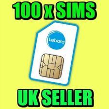 100 X Lebara Mobile Pay As You Go 4G Sim Cards UK New Bulk Wholesale lot
