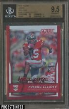 2016 Score Red Zone Jumbo Ezekiel Elliott Cowboys RC Rookie /35 BGS 9.5