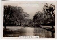 Trinity College Bridge Cambridge Cam River England 1930s Trade Ad Card