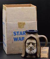 vintage Star Wars OBI WAN KENOBI Rumph ceramic mug California Originals Ben +BOX