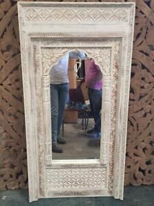 MADE TO ORDER Hand Carved  Mehrab Indian Carved Mirror Jharokha Wooden Arch Wall