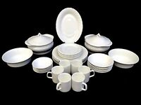 37 piece white Dinner set with serving wares