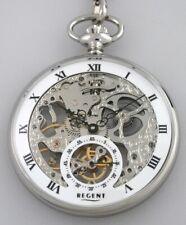 hochwertige Regent Skelett Taschenuhr P107 mit Kette