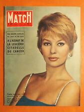 Paris Match N° 502 du 22/11/1958-A.Vadim débute à l'écran-Rivière 6 jours au lit