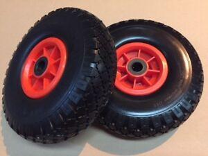 "2 x260mm (10"") Puncture Proof wheels,20mm, Carts/trolleys/football Goals"