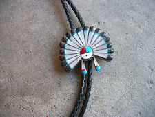 Hopi Sun Face Bolo Tie vintage south western sterling native indian old pawn