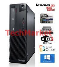 Lenovo ThinkCentre Desktop PC Intel Core i5 8GB 128SSD + 750GB HDD Win 10 Office
