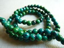 Strang Chrysokoll Edelstein Perle Kugel rund 4,5 mm 40 cm lang grün 2727