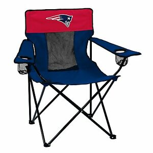 New England Patriots Logo Quad Chair - Portable w/ Cupholder -NFL Licensed- FREE