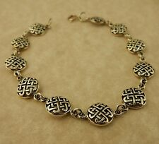 Sterling Silver Irish Celtic Knot link bracelet