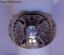 Antique Masonic Diamond Ring 14k Gold