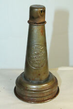 VINTAGE STYLE METAL MASTER MOTOR OIL BOTTLE SPOUT WITH DUST CAP